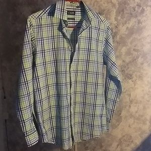 Boys' Long Sleeve Woven Shirt with Stretch